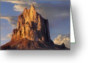 Mountains New Mexico Greeting Cards - Shiprock The Basalt Core Of An Extinct Greeting Card by Tim Fitzharris