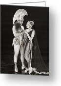 Movie Star Greeting Cards - Silent Film Still: Costumes Greeting Card by Granger