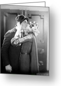 Greta Garbo Greeting Cards - Silent Film Still Greeting Card by Granger