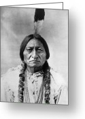 Great Plains Greeting Cards - Sitting Bull (1834-1890) Greeting Card by Granger