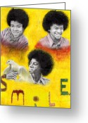 Michael Jackson Greeting Cards - Smile Greeting Card by Cassandra Allsworth