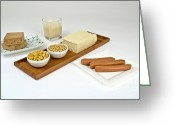 Tofu Greeting Cards - Soy Products Greeting Card by Photo Researchers