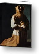 Cowl Greeting Cards - St Francis Of Assisi Greeting Card by Granger