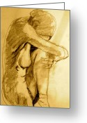 Nude Greeting Cards - Studio Sketch Greeting Card by Dan Earle