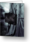 Travelling Greeting Cards - Suitcase Greeting Card by Joana Kruse