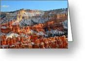 Thor Greeting Cards - Sunset point in Bryce Canyon Greeting Card by Pierre Leclerc