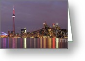 Metropolitan Greeting Cards - The City of Toronto Greeting Card by Oleksiy Maksymenko