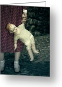 Red And Tea Greeting Cards - The Doll Greeting Card by Joana Kruse