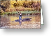 Catch Light Greeting Cards - The fisherman Greeting Card by Odon Czintos