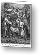 Saint Joseph Greeting Cards - The Nativity Greeting Card by Granger