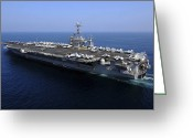 Aircraft Carrier Greeting Cards - The Nimitz-class Aircraft Carrier Uss Greeting Card by Stocktrek Images