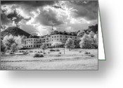 Stanley Pyrography Greeting Cards - The Stanley Hotel Greeting Card by G Wigler