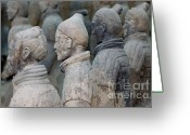 Shaanxi Greeting Cards - The Terracotta Army Greeting Card by Sami Sarkis