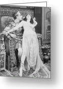 Ptolemaic Greeting Cards - Theda Bara (1885-1955) Greeting Card by Granger