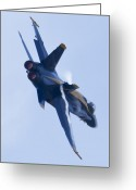 Hornet Greeting Cards - US Navy Blue Angels Poster Greeting Card by Dustin K Ryan