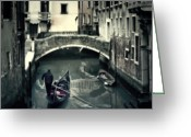 Blur Greeting Cards - Venezia Greeting Card by Joana Kruse