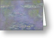 Waterlilies Greeting Cards - Waterlilies Greeting Card by Claude Monet