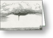 Spout Photo Greeting Cards - Waterspout Greeting Card by Science Source