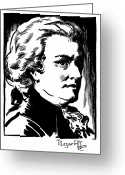 1930s Greeting Cards - Wolfgang Amadeus Mozart Greeting Card by Granger