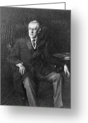 Nobel Peace Prize Greeting Cards - Woodrow Wilson (1856-1924) Greeting Card by Granger