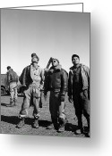 Black Jacket Greeting Cards - Wwii: Tuskegee Airmen, 1945 Greeting Card by Granger
