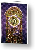 Wall Art Tapestries - Textiles Greeting Cards - 40 Greeting Card by Mildred Thibodeaux