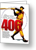 Major League Baseball Greeting Cards - 406 Greeting Card by Ron Regalado