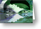 Starring Eyes Greeting Cards - 407 -  Return of the drowned lady   Greeting Card by Irmgard Schoendorf Welch
