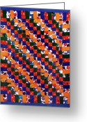 Wall Art Tapestries - Textiles Greeting Cards - 41 Greeting Card by Mildred Thibodeaux