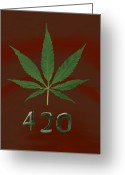 420 Greeting Cards - 420 Greeting Card by Jim  Hatch
