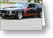 Stripe.paint Greeting Cards - 427 Boss Mustang Greeting Card by Barry  Blackburn