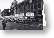 City Greeting Cards - 42nd Street NYC 1982 Greeting Card by Steven Huszar