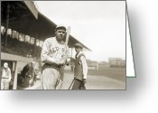 Boston Stadium Greeting Cards - George H. Ruth (1895-1948) Greeting Card by Granger