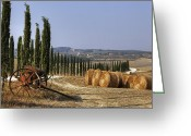 Farmhouse Greeting Cards - Tuscany Greeting Card by Joana Kruse