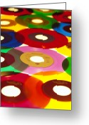 Vinyl Greeting Cards - 45 Rpm Greeting Card by Robert Ponzoni