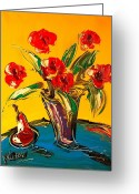 Leaned Greeting Cards Greeting Cards - Flowers Greeting Card by Mark Kazav