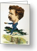 Calaveras Greeting Cards - Samuel Langhorne Clemens Greeting Card by Granger