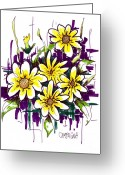 Violet Purple Greeting Cards - Untitled Greeting Card by Teddy Campagna