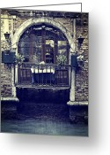 Flower Pots Greeting Cards - Venezia Greeting Card by Joana Kruse