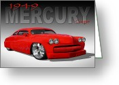 Street Rod Greeting Cards - 49 Mercury Coupe Greeting Card by Mike McGlothlen