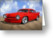 Hot Rod Greeting Cards - 49 Mercury Greeting Card by Mike McGlothlen