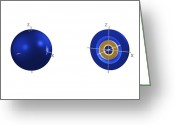 Quantum Mechanics Greeting Cards - 4s Electron Orbital Greeting Card by Dr Mark J. Winter