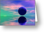 Screen Doors Greeting Cards -  Planet reflection Greeting Card by Odon Czintos