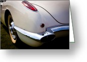 Street Rod Photo Greeting Cards - 1959 Chevy Corvette Greeting Card by David Patterson