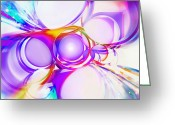 Blank Greeting Cards - Abstract Of Circle  Greeting Card by Setsiri Silapasuwanchai
