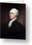 Cravat Greeting Cards - Alexander Hamilton Greeting Card by Granger