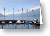 Paradise Pier Greeting Cards - Ascona - Ticino Greeting Card by Joana Kruse