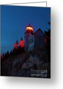 Desert Island Greeting Cards - Bass Harbor Lighthouse Greeting Card by John Greim