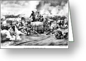 General Jackson Greeting Cards - Battle Of New Orleans, 1815 Greeting Card by Granger