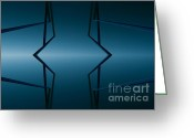 Screen Doors Greeting Cards - Blue lake Greeting Card by Odon Czintos